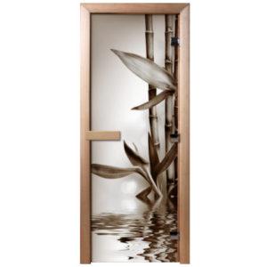 Двери стеклянные с фотопечатью